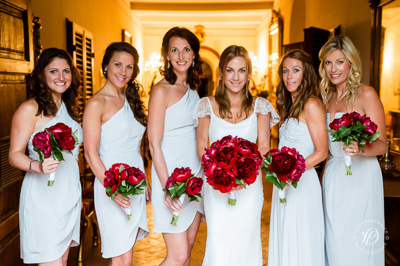Bride and bridesmaids, destination wedding